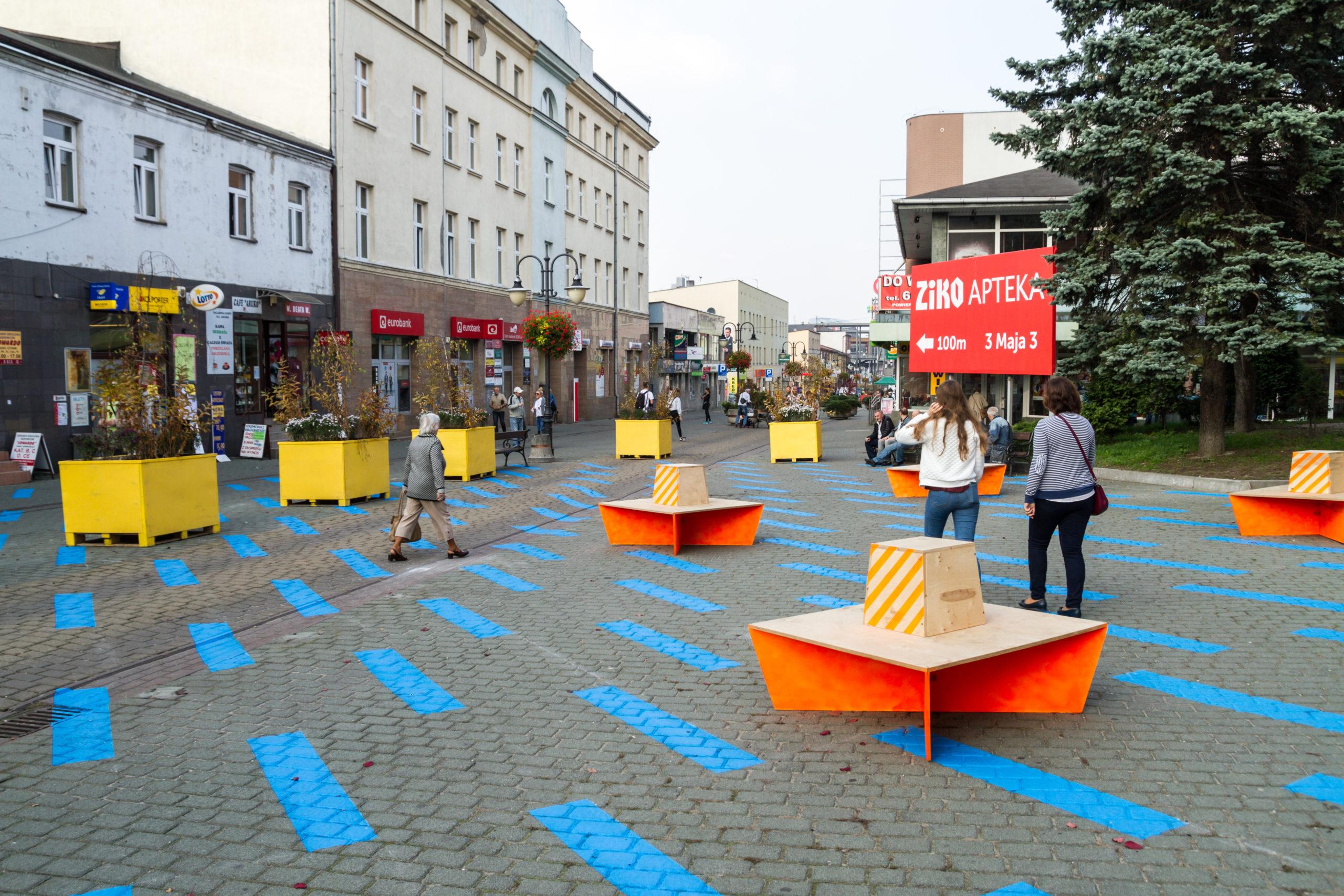 ulica 3 Maja, Żywa Ulica w Dąbrowie Górniczej, rok 2017, fot. Marek Dziurkowski