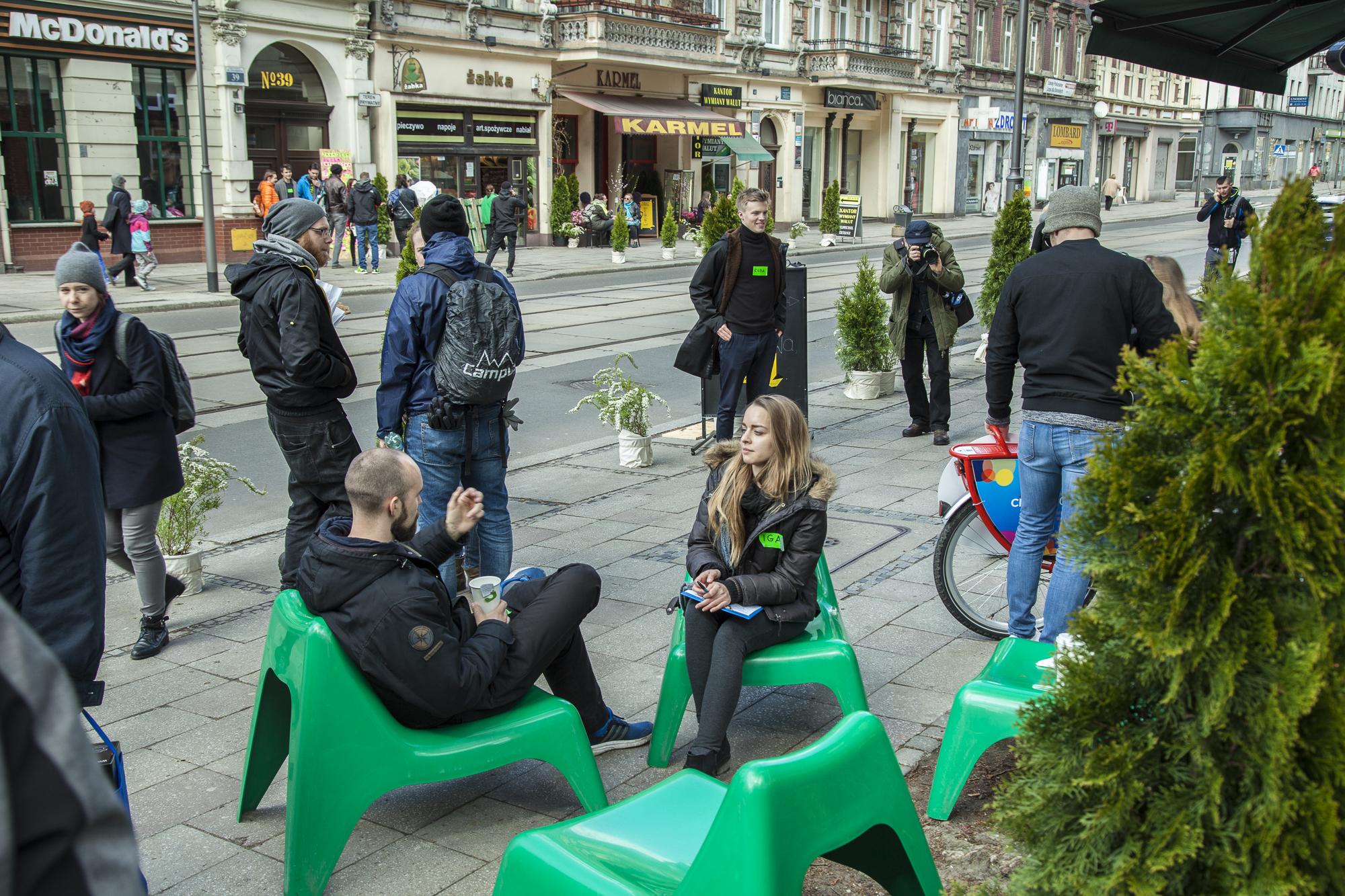 ulica Zwycięstwa, Żywa Ulica w Gliwicach, rok 2017, fot. Andrzej Parecki